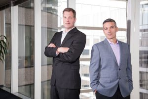 Tony DiBenedetto, CEO and co-founder, and Greg Pierce, vice president of Tribridge's Concerto Cloud Services
