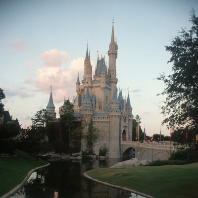 M4-1 Cinderella Castle-Evening Sept. 1990
