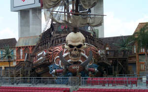 Tampa Bay Buccaneers Pirate Ship at Raymond James Stadium.