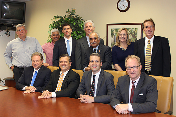 First Row L to R: Kennan Burch - CEO – Brand Catalysts Partners | Geoffrey Gallo, ChFC, CExP - VP – Nperspective CFO & Strategic Services | Chris Cucci - SVP – CenterState Bank | Paul Dietrich, JD - Partner – Swann, Hadley, Stump, Dietrich & Spears Back Row L to R: Glyn Griffis, CFP – Branch Manager – Raymond James Financial Services, Inc. | Seth Bobet – Principal - Smart Professional Resources | David Poparad, CPA – Grennan Fender McCrady Hess & Poparad LLP | Douglas Foreman, CLU, ChFC – President – Fringe Benefit Plans, Inc. | Nasser Hedayat, Ed.D - Assistant VP, Career and Workforce Education – Valencia College | Stephanie Howell - Director, Community Affairs – Valencia College | Gary Cohen, CPA – CFO Associate – Nperspective CFO & Strategic Services