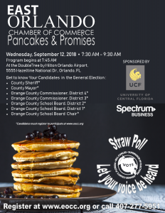 Pancakes and Promises | East Orlando Chamber of Commerce @ DoubleTree by Hilton Orlando Airport