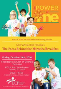 UCP of Central Florida | The Faces Behind the Miracles Breakfast @ First Baptist Church of Orlando, Faith Hall