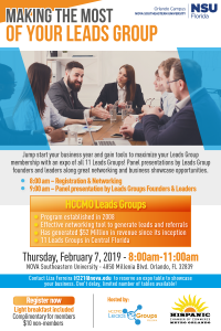 Making the Most of your Leads Group @ Nova Southeastern University