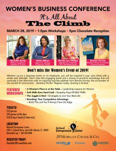 It's All About The Climb Women's Business Conference @ National Entrepreneur Center