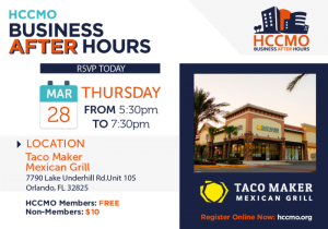 HCCMO Business After Hours hosted by Taco Maker Mexican Grill