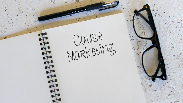 Use Your Platform for Good Notebook says Cause Marketing