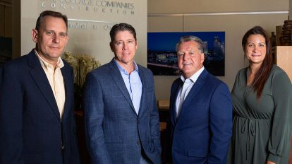 From left, Steve Pinyot, executive vice president; Rob Maphis, president; Brian Walsh, founder, CEO and chairman; and Tara Sanders, chief financial officer